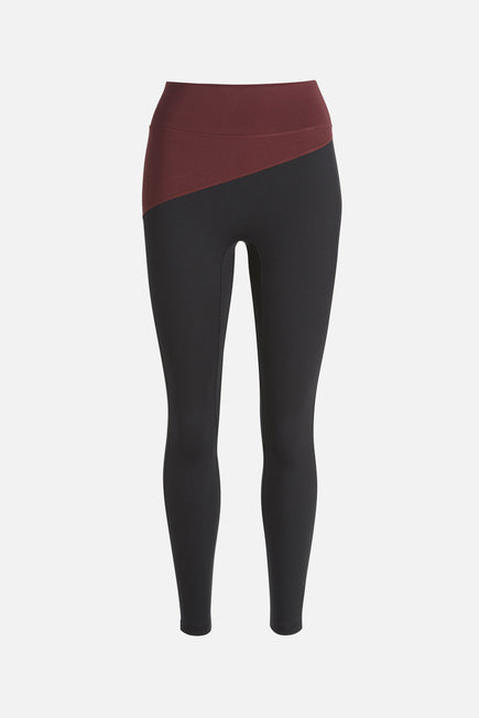 Top Blocked Legging by A.L.C. x BANDIER in Plum/black 5