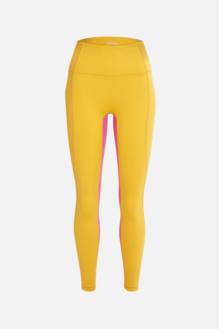 Ultra High Rise Utility Pocket Legging by All Access in Escape Orange/digital Pink 7