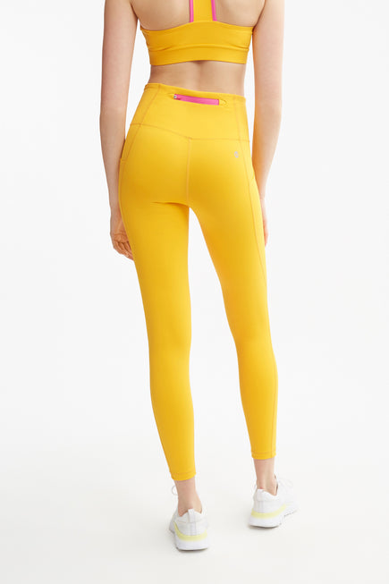 Ultra High Rise Utility Pocket Legging by All Access in Escape Orange/digital Pink 4