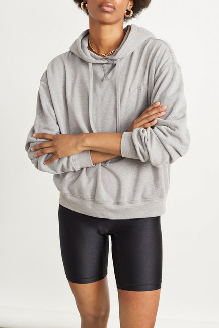The Ecosoft Classic Hoodie by WSLY in Grey Heather 4