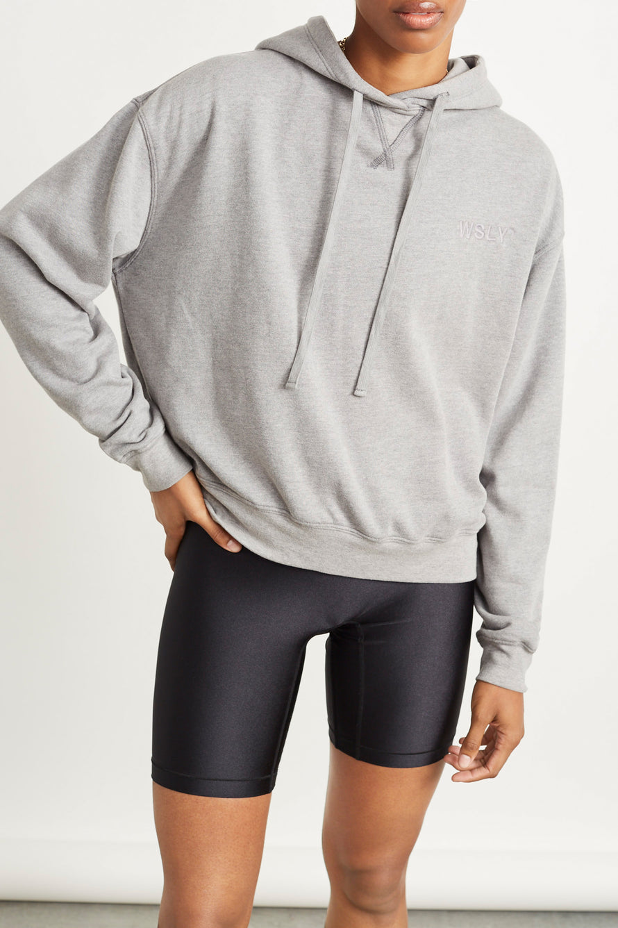 The Ecosoft Classic Hoodie by WSLY in Grey Heather 1