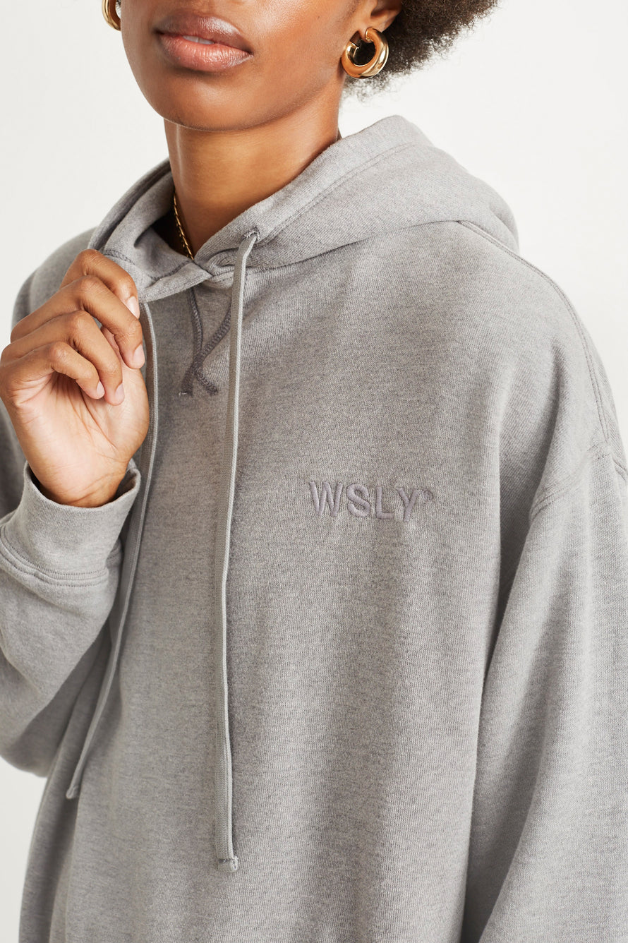 The Ecosoft Classic Hoodie by WSLY in Grey Heather 6