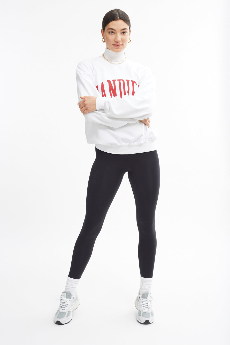 Classic Crewneck by BANDIER in White 2