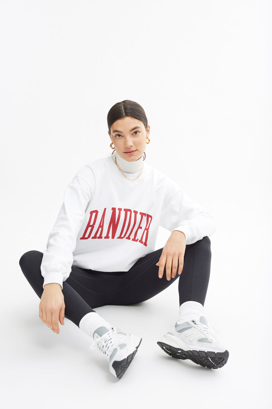 Classic Crewneck by BANDIER in White 1