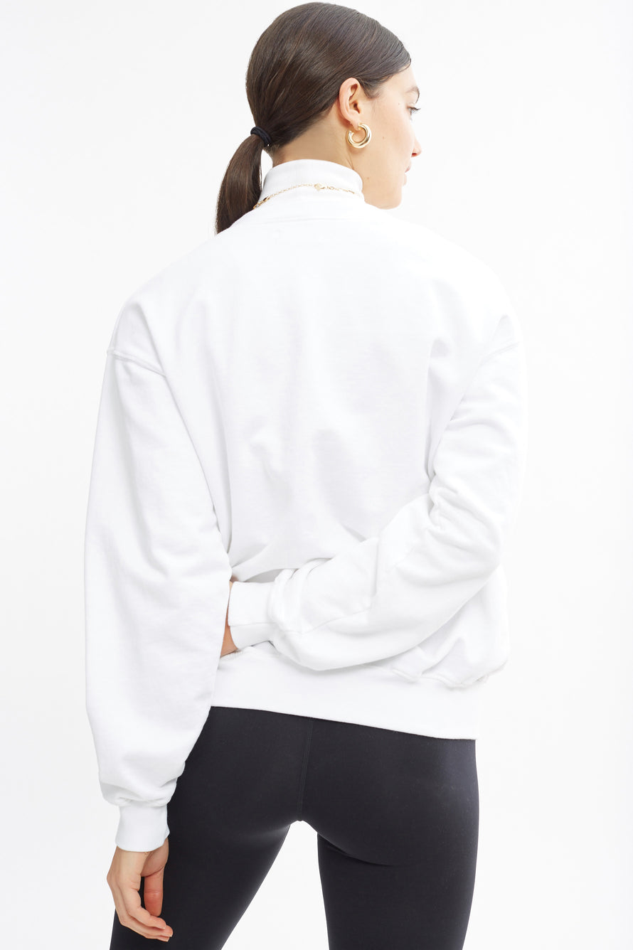 Classic Crewneck by BANDIER in White 3
