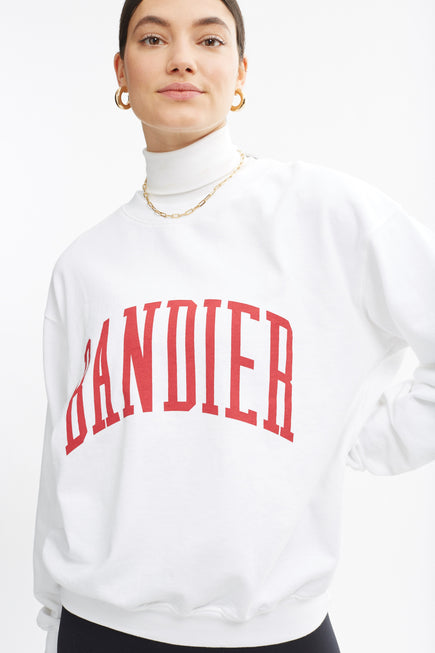 Classic Crewneck by BANDIER in White 4