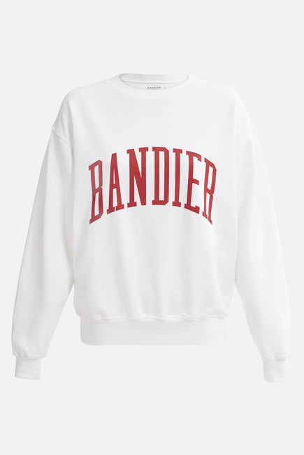 Classic Crewneck by BANDIER in White 5