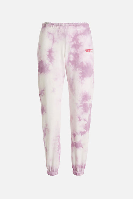 The Ecosoft Classic Jogger by WSLY in Washed Orchid Tie Dye 7