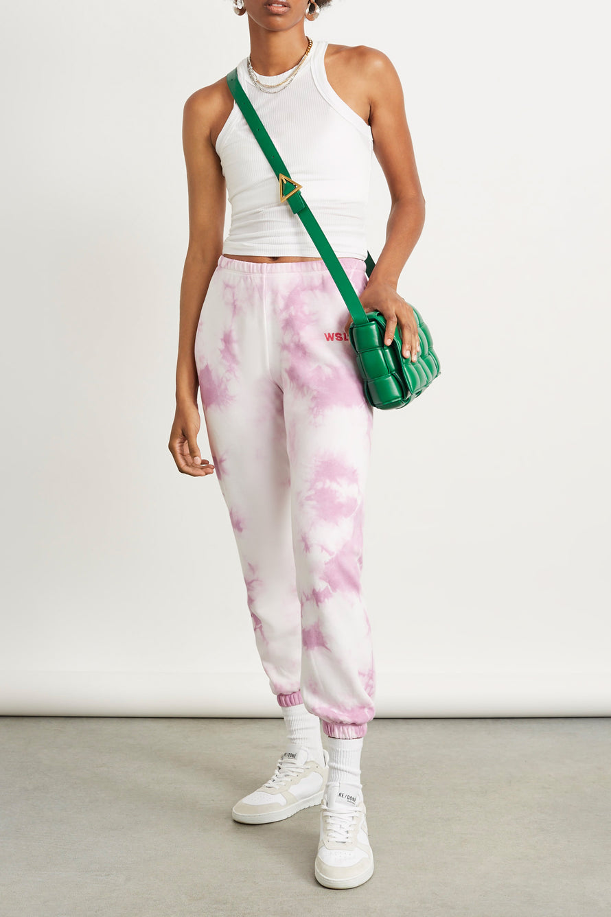 The Ecosoft Classic Jogger by WSLY in Washed Orchid Tie Dye 3