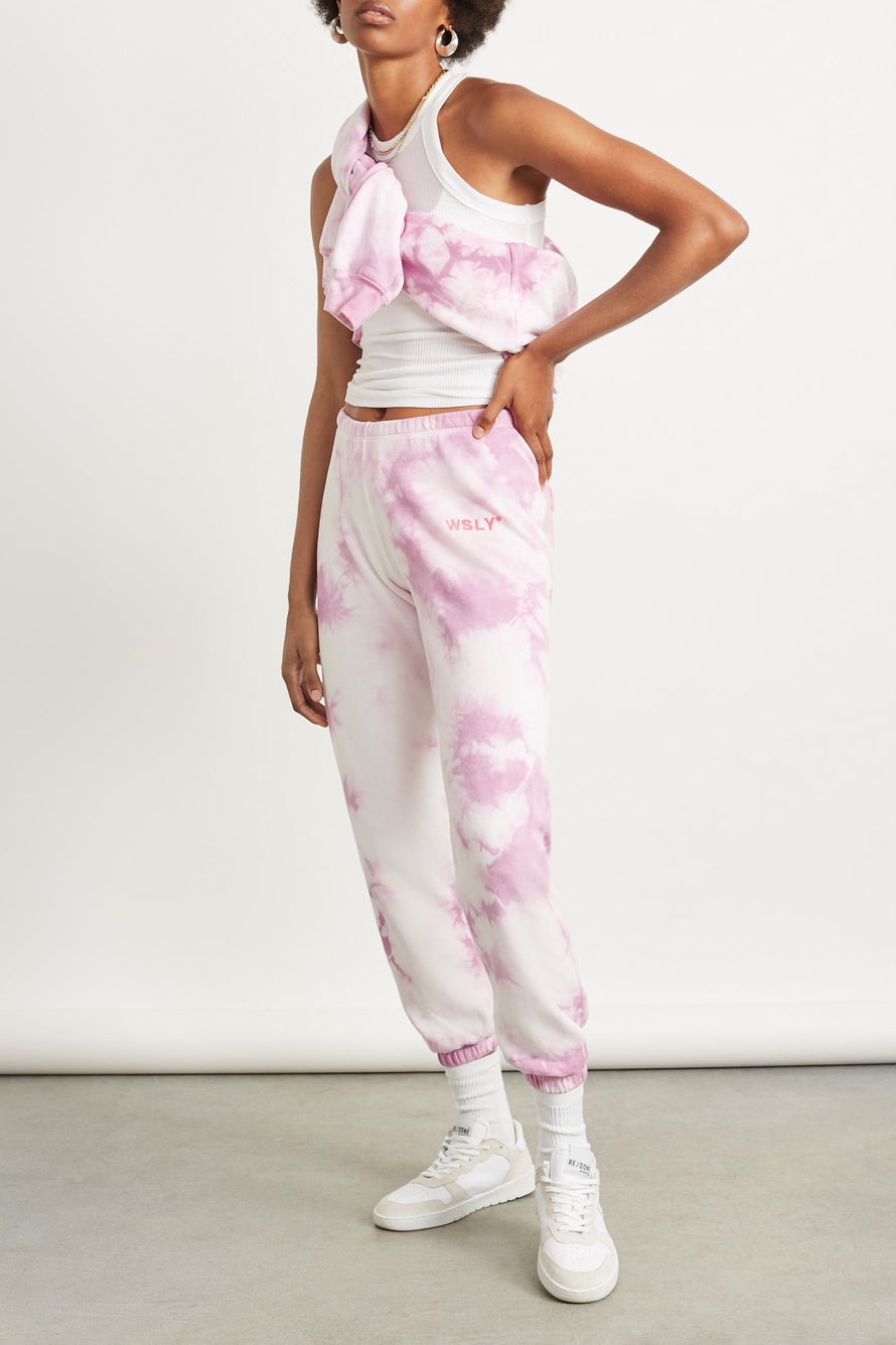 The Ecosoft Classic Jogger by WSLY in Washed Orchid Tie Dye 5