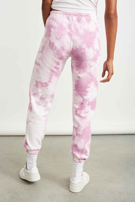 The Ecosoft Classic Jogger by WSLY in Washed Orchid Tie Dye 6