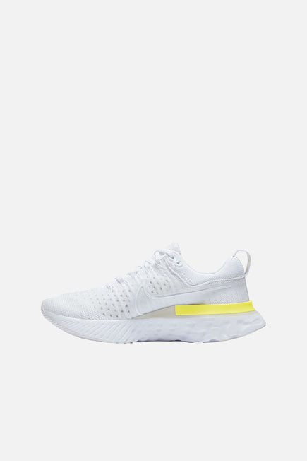 Nike React Infinity Run Flyknit 2 by Nike in White/white-platinum Tint-lt Z 2