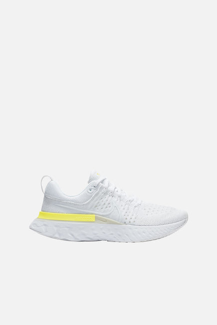 Nike React Infinity Run Flyknit 2 by Nike in White/white-platinum Tint-lt Z 1