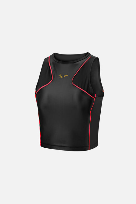 Nike Pro Crop Top by Nike in Black/bright Crimson/laser Ora 1