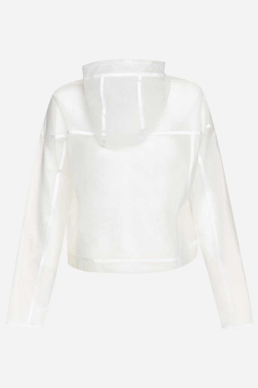WR JKT Transparent by Nike in Clear/white/white 2
