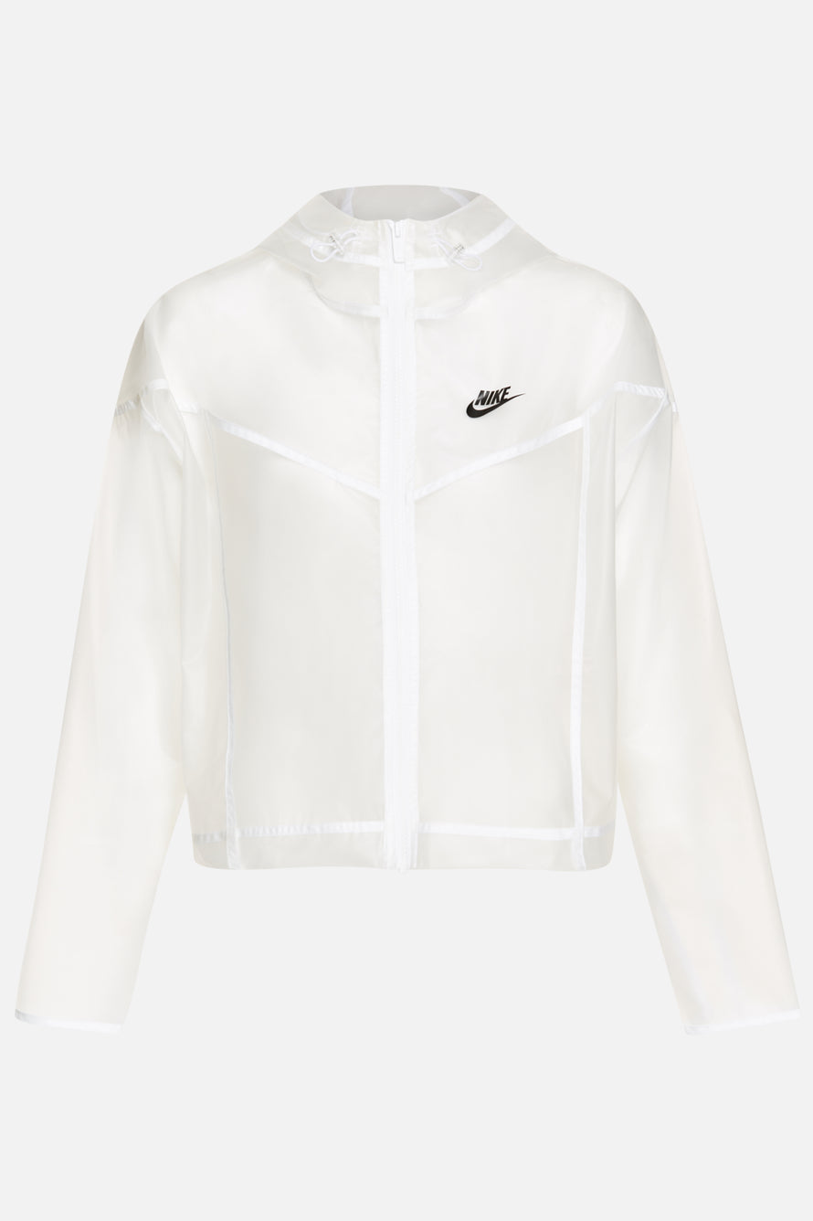 WR JKT Transparent by Nike in Clear/white/white 1