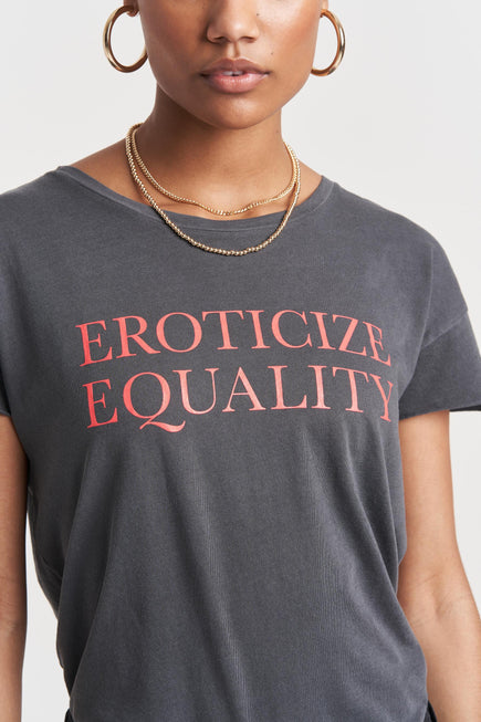Eroticize Equality Rocker Tee by PRINKSHOP x BANDIER in Coral Pigment/diva Pink 3