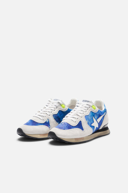 Tie Dye Running Sneaker by Golden Goose in Tie Dye Printed Leather 4