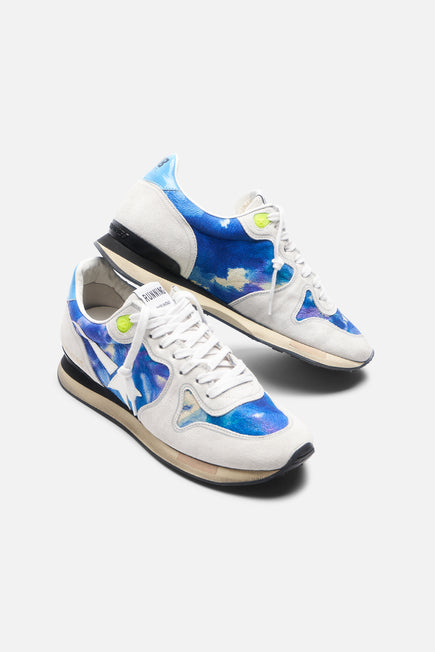 Tie Dye Running Sneaker by Golden Goose in Tie Dye Printed Leather 3