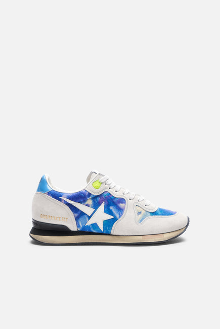 Tie Dye Running Sneaker by Golden Goose in Tie Dye Printed Leather 1
