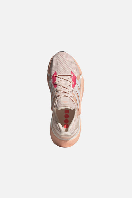 X9000L4 by adidas in Pink Tint/ftw White/signal Pin 2