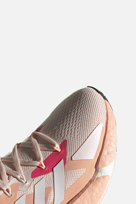 X9000L4 by adidas in Pink Tint/ftw White/signal Pin 3