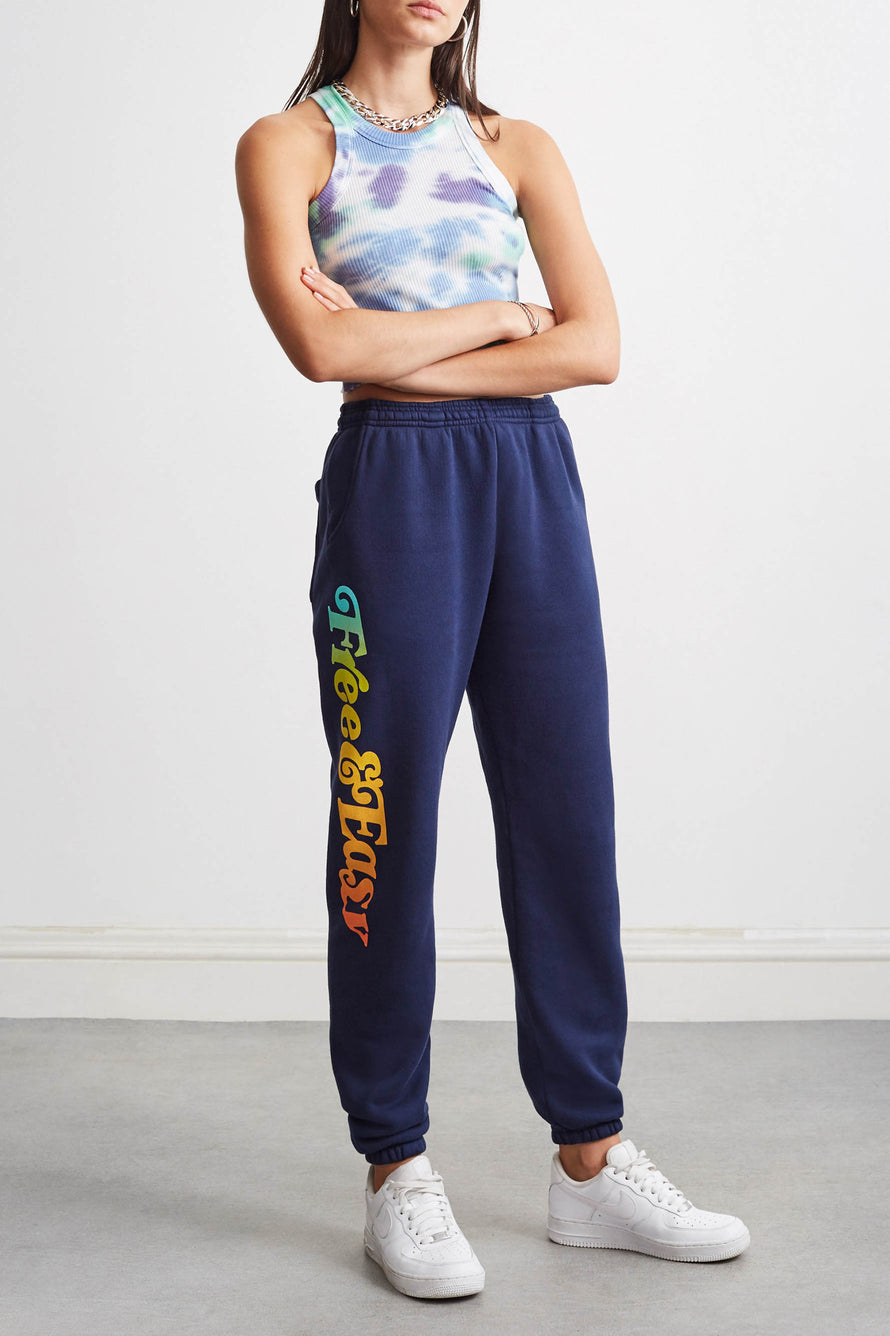 Sunset Sweatpants by Free & Easy in Navy 2