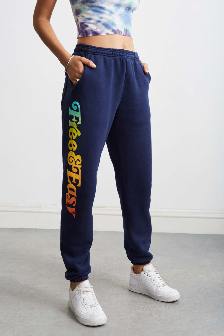 Sunset Sweatpants by Free & Easy in Navy 1