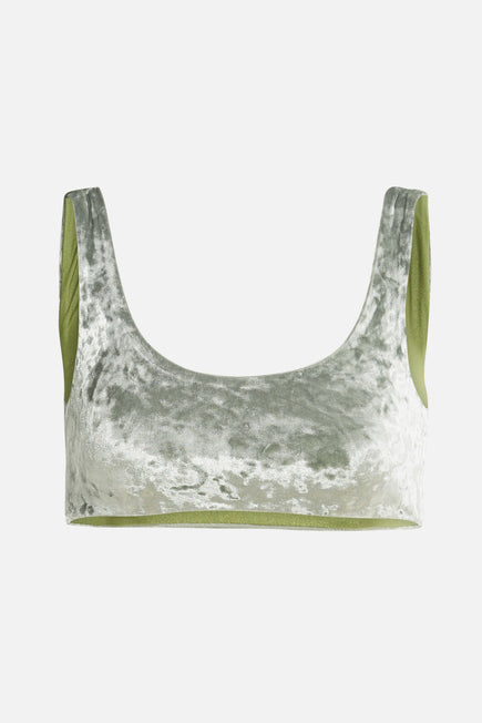 Rounded Edges Top by Jade Swim in Jade Crushed Velvet 1