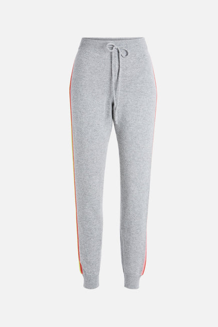 Ripple Track Pants by Chinti And Parker in Grey Marl/multi 1