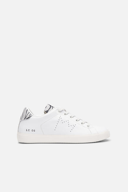 Iconic Low Top Sneaker by Leather Crown in Zebra 1