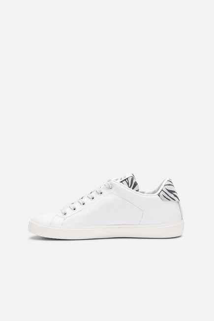 Iconic Low Top Sneaker by Leather Crown in Zebra 2