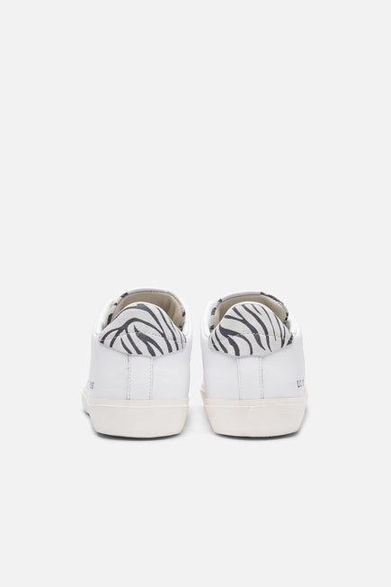 Iconic Low Top Sneaker by Leather Crown in Zebra 4