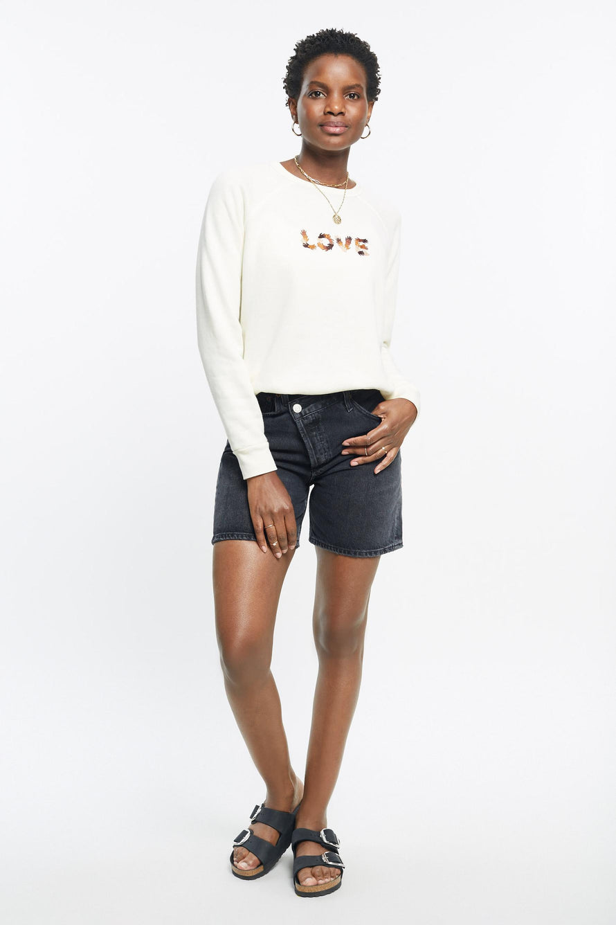 Classic Ultra Cozy Love Raglan Pullover by C.bonz in Cream 3