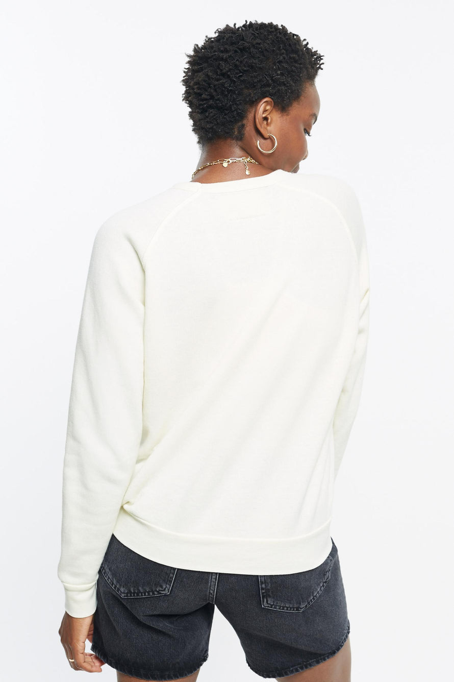Classic Ultra Cozy Love Raglan Pullover by C.bonz in Cream 5