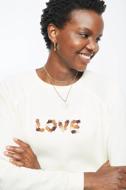 Classic Ultra Cozy Love Raglan Pullover by C.bonz in Cream 4