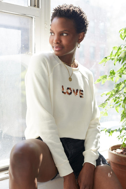 Classic Ultra Cozy Love Raglan Pullover by C.bonz in Cream 1