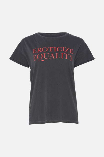 Eroticize Equality Rocker Tee by PRINKSHOP x BANDIER in Coral Pigment/diva Pink 6