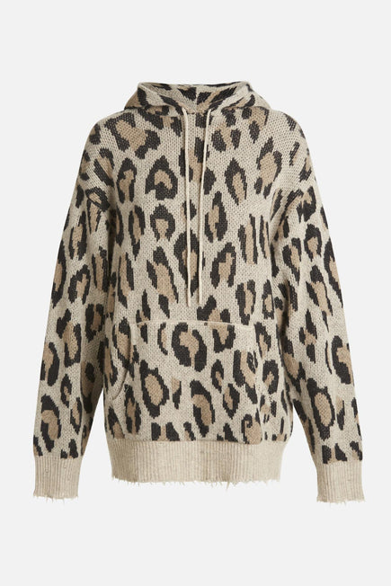 Cashmere Leopard Hoodie by R13 in Leopard 1