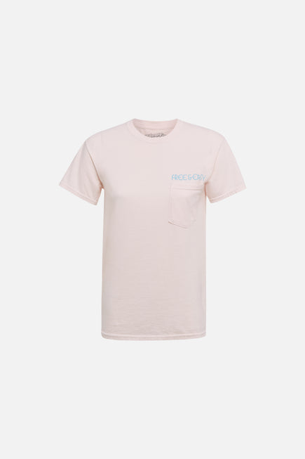 Rainbow Relax Pocket Tee by Free & Easy in Pink 6