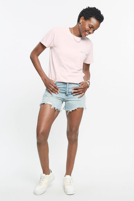 Rainbow Relax Pocket Tee by Free & Easy in Pink 2