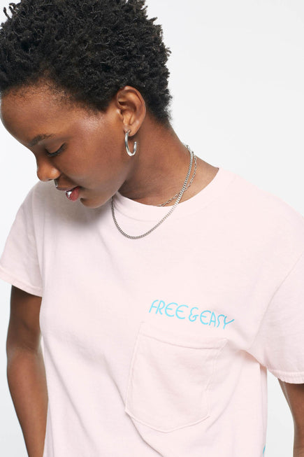 Rainbow Relax Pocket Tee by Free & Easy in Pink 5