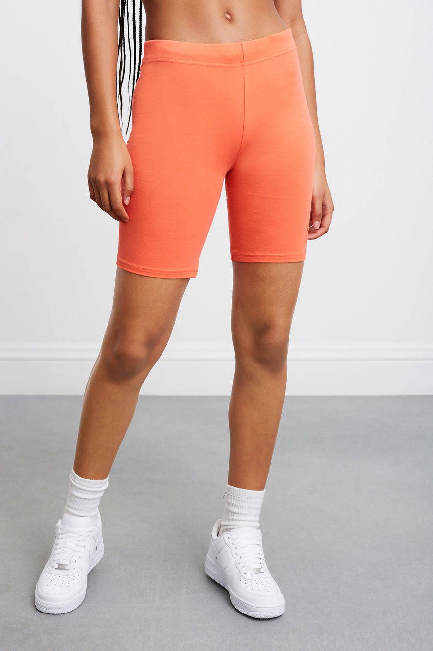 Jersey Apparel Tight Short by Les Girls Les Boys in Hot Coral 1