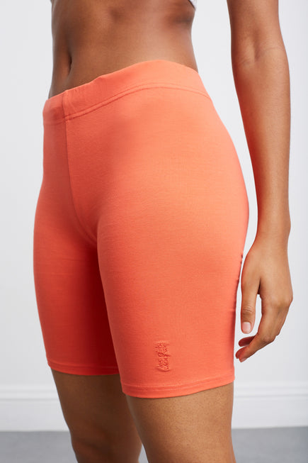 Jersey Apparel Tight Short by Les Girls Les Boys in Hot Coral 2