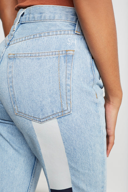 Harvest Rainbow Tate Jean by Still Here in Vintage Blue 4