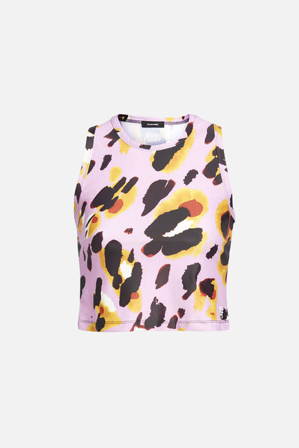 Cropped Tank by Twin Fantasy in Pink Abstract 1