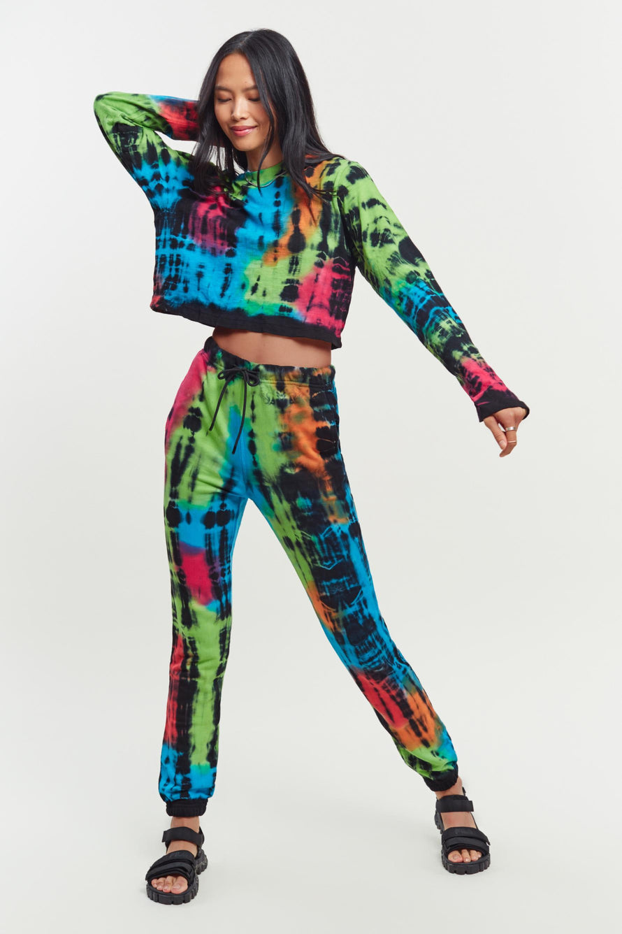 Milan Sweatpants by Cotton Citizen in Kaleidoscope Flash 1