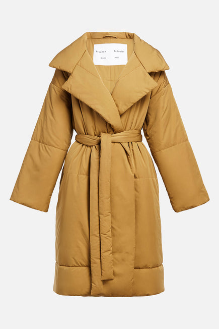 Matte Puffer Long Coat by Proenza White Label in Cider 6