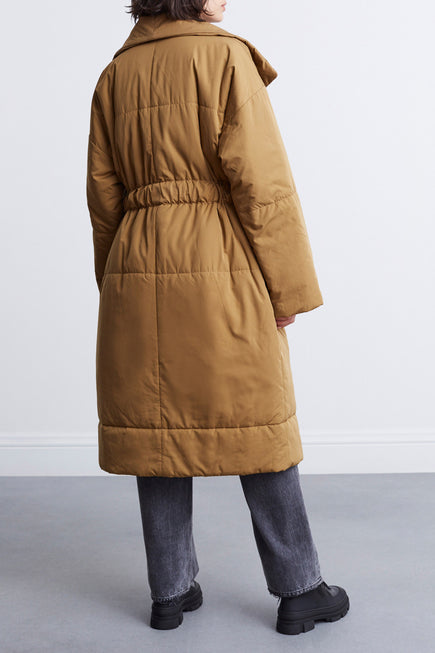 Matte Puffer Long Coat by Proenza White Label in Cider 4