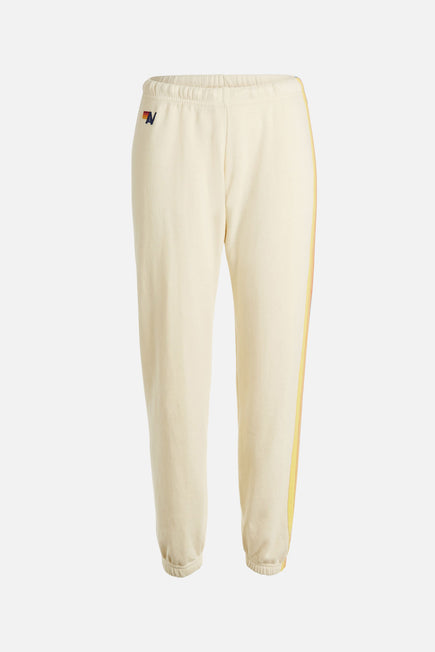 5 Stripe Sweatpants by Aviator Nation in Vintage White/orange 7